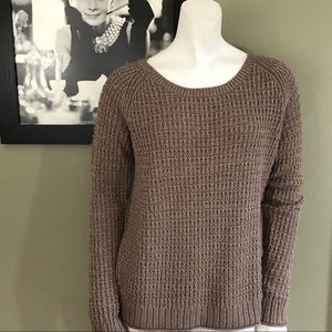 Gap Sweater Wool Blend Metallic Thread S Mauve